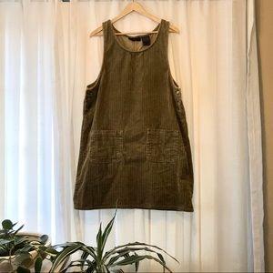 Vintage Corduroy Pinafore Dress